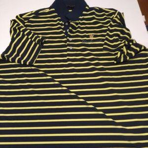 Ralph Lauren RLX Yellow & Blue Shirt 2XL